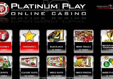 Platinum Play Casino - Lobby
