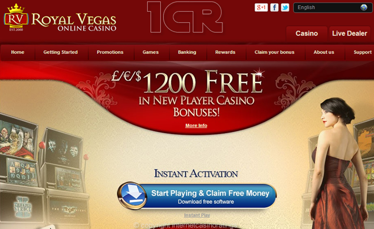 Royal Vegas Online Casino - Website
