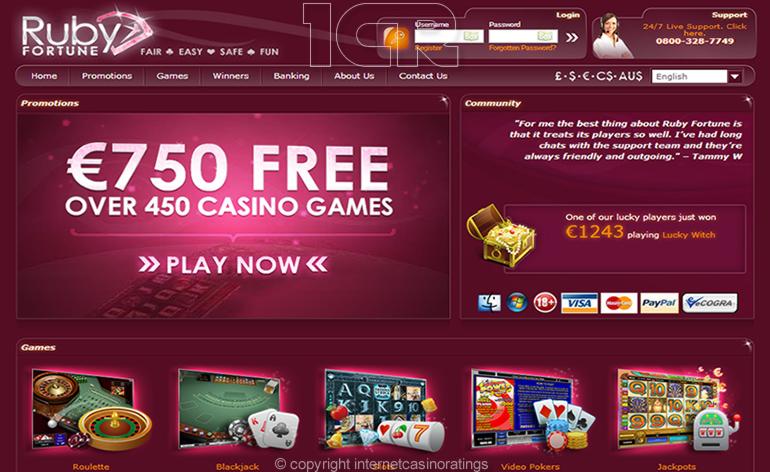 Ruby Fortune Online Casino - Website