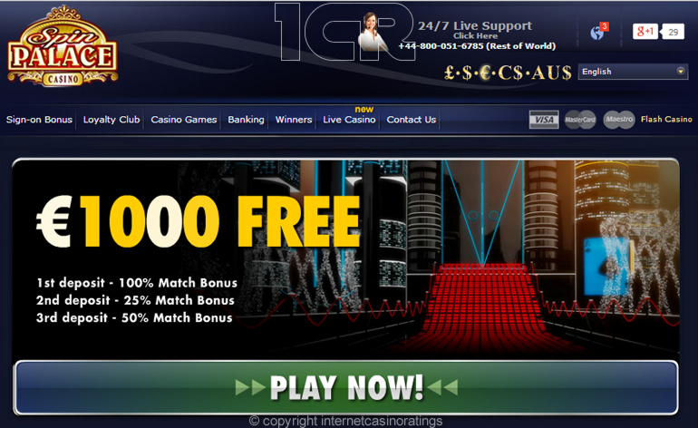 Spin Palace Casino - Website