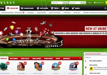 Unibet Casino - Website