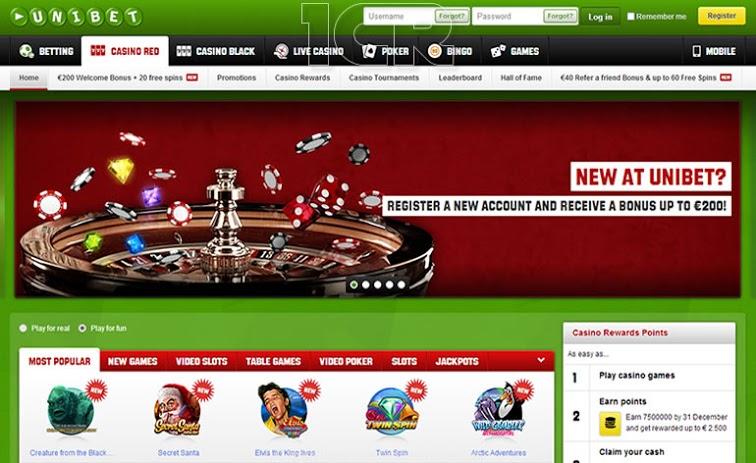 Unibet Casino - Website